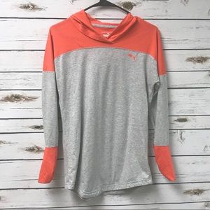 Puma Tops - Women's puma orange gray hoodie size S